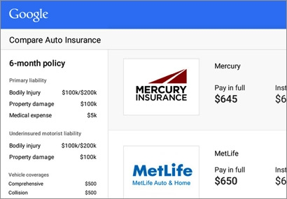 Google Launches Auto Insurance ComparisonShopping Engine 03/06/2015