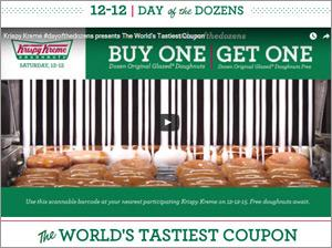 photograph regarding Krispy Kreme Printable Coupons known as Krispy Kreme Movie Attributes As Scannable Coupon 12/09/2015